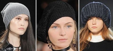 Женские вязаные шапки
