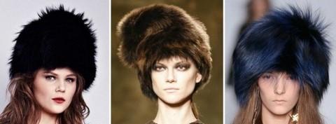 Меховые женские шапки