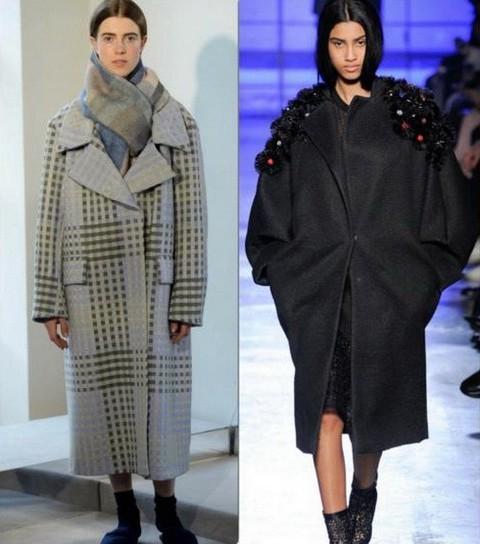 Пальто зимнее объемное
